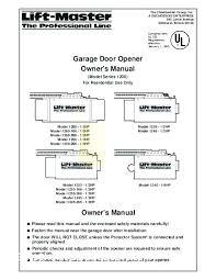 chamberlain liftmaster garage door opener troubleshooting 1 2 hp