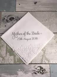 mother of the bride handkerchief gift from bride to mother wedding day gift for brides mother personalized lace handkerchief