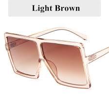 Shop Vintage <b>Sunglasses</b> Woman <b>Fashion</b> 2019 Retro Big Square ...