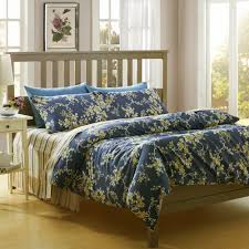 blue fl king size duvet covers with nightstand