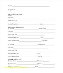 employer emergency contact form template printable update contact information form template