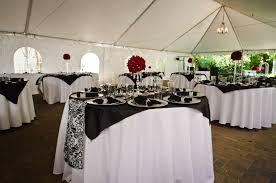 black white red damask wedding party