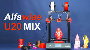 <b>Alfawise U20 Mix</b> Dual Color Printing Test & Operation - YouTube