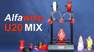 <b>Alfawise U20 Mix</b> Dual Color Printing Test & Operation - YouTube
