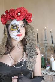 dia de los muertos makeup man half face