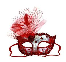 Decorating Masquerade Masks Amazon Elizabeth RedSilver Decorated Masquerade Mask for 60