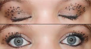 transfer sticker 9927 leopard print eye makeup by xtine92