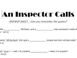 Phone Call Quotes Mesmerizing An Inspector Calls Quote Task By Jendi48 Teaching Resources Tes