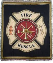 firefighter throw blankets fireman gift throws personalized embroidered