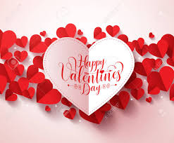Valentines Greetings Card Design In White Color With Happy Valentines