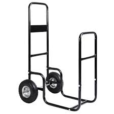 costway firewood carrier log wood mover hauler fire rack caddy cart dolly rolling 0