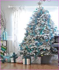 Blue And Silver Christmas Tree Decorations Ideas Home Design Ideas