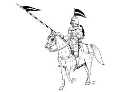 Kleurplaat Ridder Te Paard Afb 9073 Images