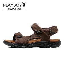 PLAYBOY 2016 <b>Summer New</b> Brand <b>Men's Sandals</b> Designer ...