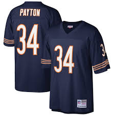 Bears Ness amp; Replica Payton Navy Player Chicago Mitchell Men's Walter Legacy Jersey Retired