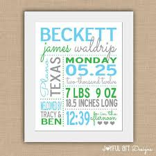 birth statistic printable wall art personalized baby stats nursery decor baby shower gift customized digital art 12 00 on personalized wall art for baby with birth stats sign wall art baby statistics personalized baby stats