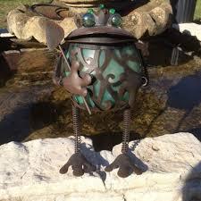 Metal Art Solar Light Outdoors Garden Frog  Whatu0027s It WorthSolar Frog Lights