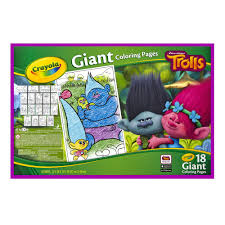 Small Picture Crayola Giant Coloring Pages Trolls 18 Pages Walmartcom