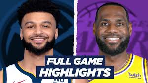 Denver Nuggets at Lakers - Full Game HIGHLIGHTS Today - YouTube