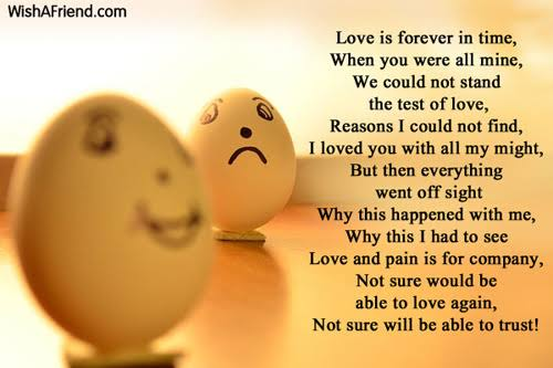 sad poems about life and love