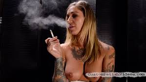 Smoking fetish femdom video