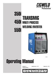 Cigweld 350i Specifications Manualzz Com