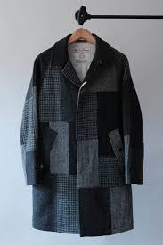 size 46 jacket in us beams plus harris tweed patchwork coat size us s eu 44 46 1