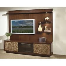 strata flat screen tv unit with wooden wall unit