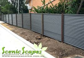 corrugated fence best corrugated metal fence ideas