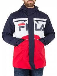 fila vintage. fila vintage peacoat linden cut and sew jacket