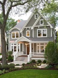 exterior painting pictures of homes. example of a classic gray two-story wood gable roof design in chicago exterior painting pictures homes