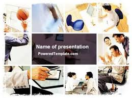 photo collage template powerpoint team building collage powerpoint template by poweredtemplate com