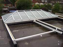 ha large slide open fully retracting glass roof roof lantern