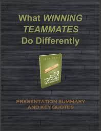 Winning Quotes Enchanting Winning Teammates Keynote Program Summary And Quotes