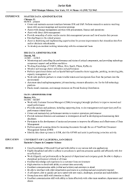 Data Administrator Resume Samples Velvet Jobs