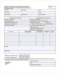 16 Construction Report Templates Free Premium Templates