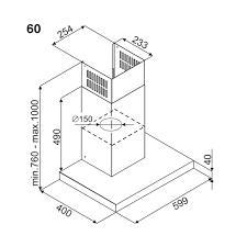MÁY HÚT MÙI FAGOR 3CFS-6031X GẮN TƯỜNG CHỮ T 600MM
