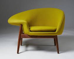 armchair designed by hans olsen for bramin denmark 1956 teak and wool