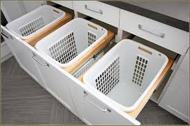 Image of: Pull Out Laundry Hamper Cabinet