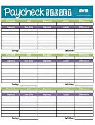Free Weekly Budget Worksheet Printable - April.onthemarch.co