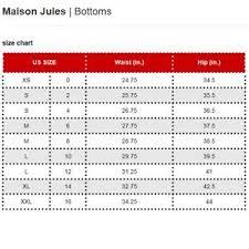 Maison Jules Size Chart Nwt Maison Jules Sequined Pencil Skirt Boutique