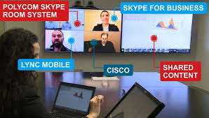 native content with polycom and skype for business