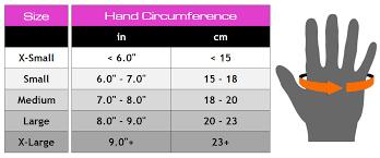 Mma Gloves Size Chart Gym Gloves Size Chart Anotherhackedlife Com