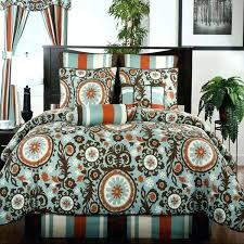 brown and orange comforter burnt orange comforter set king midtown blue brown and bedding by victor brown and orange comforter