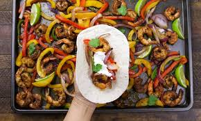 sheet pan shrimp fajitas sheet pan baked shrimp fajitas recipe tipbuzz