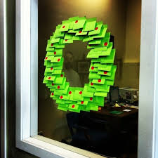 office decoration for christmas. perfect decoration u2026so did these crafty postit fans intended office decoration for christmas
