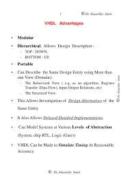 Top Down Design Advantages Ppt Vhdl Advantages Powerpoint Presentation Free Download