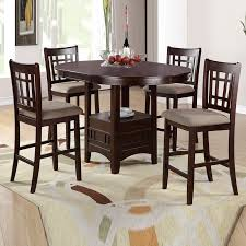 chairs counter height glass top dining table chairs round view larger