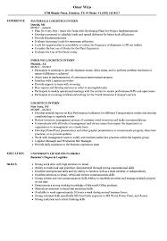 Logistics Intern Resume Samples | Velvet Jobs