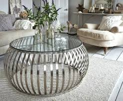fantastic round silver coffee table home design